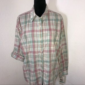 NWT Size 16 Alfred Dunner Button-down Shirt🌵